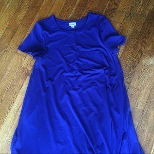 LuLaRoe royal blue Carly dress